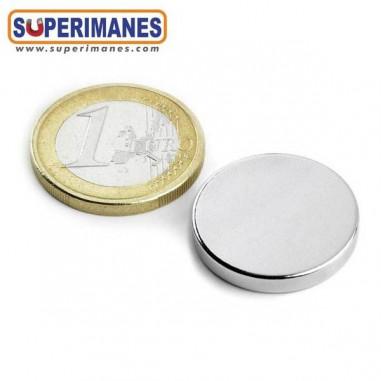 Imán de neodimio disco magnético 22x3mm D-22-03