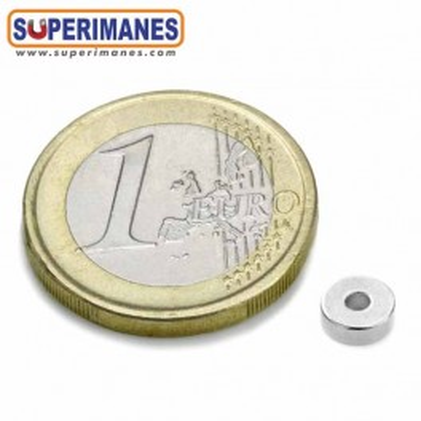 Imán de neodimio ARO Ø6/2 mm, alto 2 mm