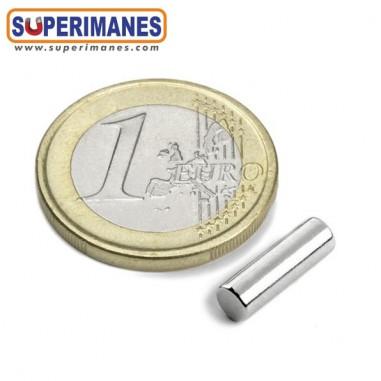 Imán neodimio cilindro 4x12.5mm C-04-12.5