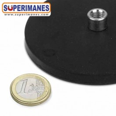 Imán revestimiento de goma casquillo roscado Ø 88mm IRGCR-88