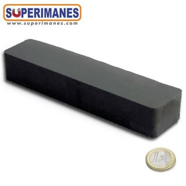 Imán bloque ferrita 150x20x20mm FE-B-150-20-20