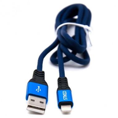 CABLE USB A LIGHTNING AZUL
