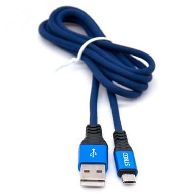 CABLE USB A MICRO-USB AZUL