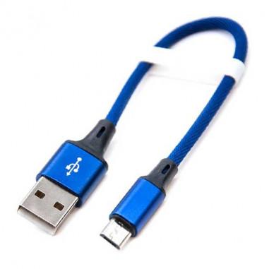 CABLE USB A MICRO-USB AZUL, 20CM