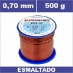 HILO COBRE Ø 0.70 MM 500G ESMALTADO