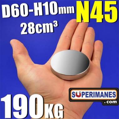 IMÁN NEODIMIO 60x10mm
