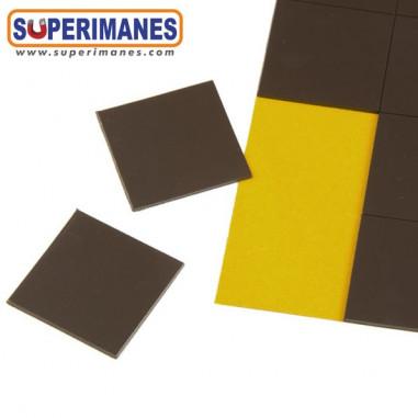 Cuadrado magnético adhesivo 30x30mm grosor 1mm