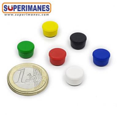 Imanes para pizarras magneticas 10 mm colores, ferrita