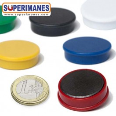 Imanes para pizarras magneticas 30mm en colores, ferrita