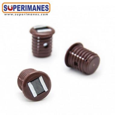 Cierre magnetico para embutir en madera diámetro 16mm
