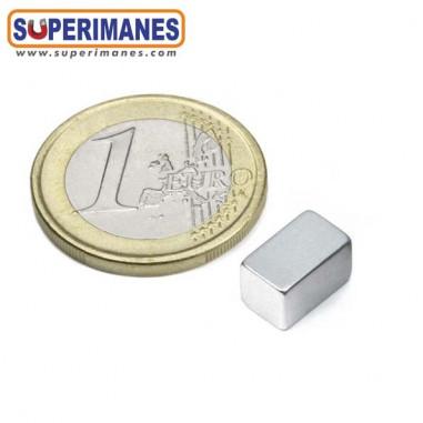 iman neodimio bloque magnetico 10x6x6mm ZINC B-10-06-06