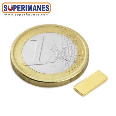 Imán de neodimio 10x4x1mm DORADO - B-10-04-01-D