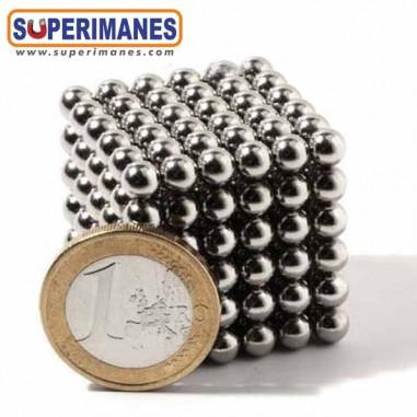 Juego esferas magneticas 5mm set 216 bolas níquel