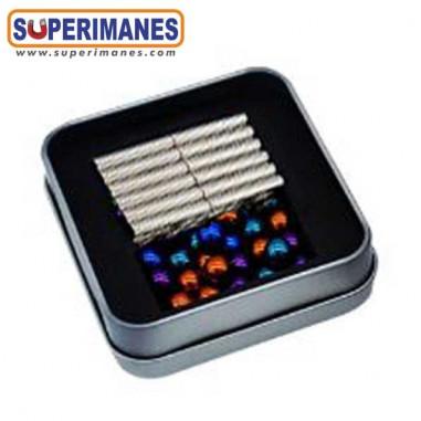 Juego construcción magnética set cilindros y esferas colores