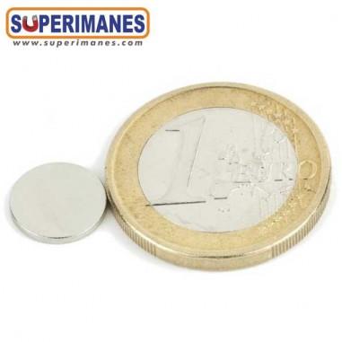 Imán neodimio disco redondo 9.5x1.3mm D-09.5-01.3